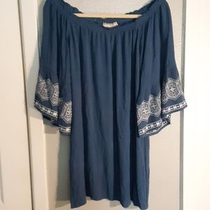 FLYING TOMATO Boho Crinkle Peasant Top  S-L